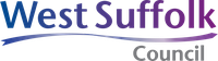 blue purple ombre west suffolk council organisation logo